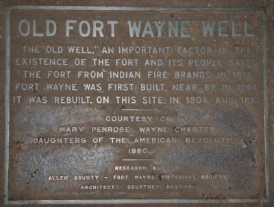 Old Fort Wayne Well Marker image. Click for full size.