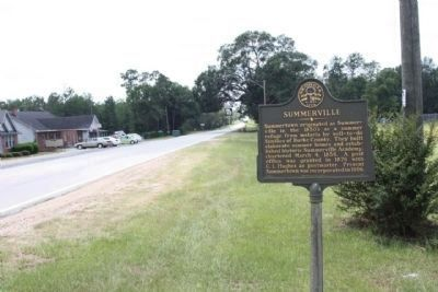Summerville Marker, looking southward along Ga 56 image. Click for full size.