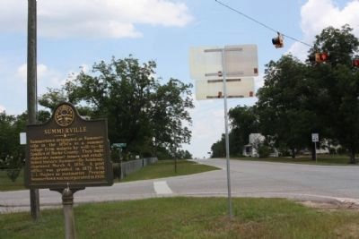 Summerville Marker, looking nortward along Ga- 56 image. Click for full size.