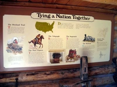 Interpretive Panel at the Mormon Station State Historic Park Museum image. Click for full size.