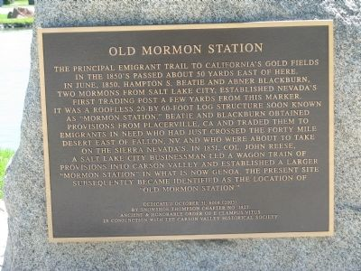Old Mormon Station Marker image. Click for full size.