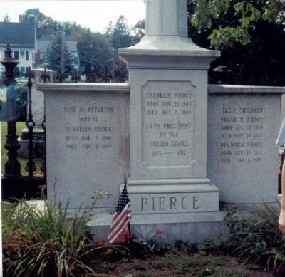 Closeup of Pierce's Gravestone image. Click for full size.