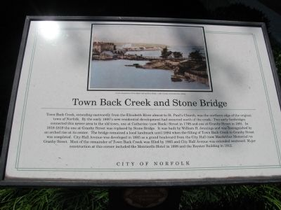 Town Back Creek and Stone Bridge Marker image. Click for full size.