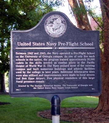United States Navy Pre-Flight School Marker image. Click for full size.