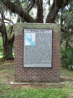 Northern Most Known Bastion of Spanish Florida Marker image. Click for full size.