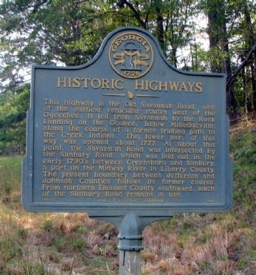 Historic Highways Marker image. Click for full size.
