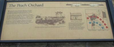 The Peach Orchard Marker image. Click for full size.