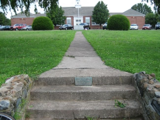 Walkway leading to East Amwell Veterans Monument image. Click for full size.