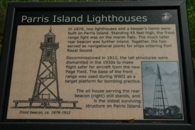 Parris Island Lighthouses Marker image. Click for full size.