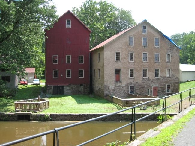 Prallsville Mill & Grain Silo - Canal Side View image. Click for full size.
