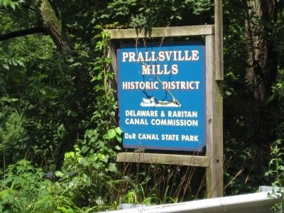 Prallsville Mills Historic District - Roadside Sign image. Click for full size.