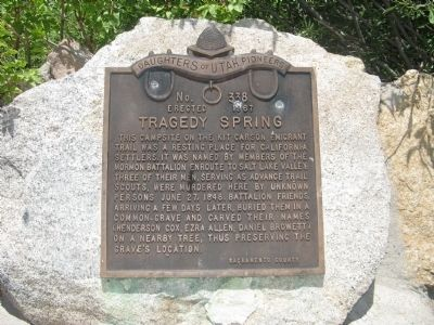 Tragedy Spring Marker image. Click for full size.