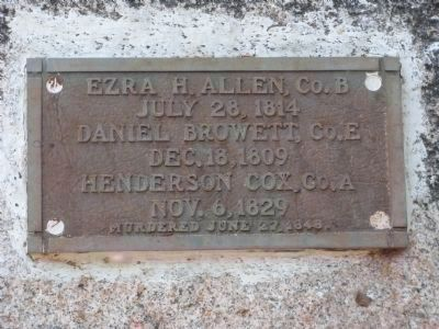 Plaque at Gravesite image. Click for full size.