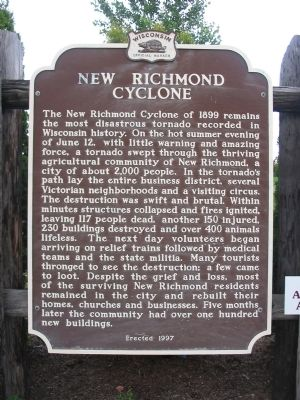 New Richmond Cyclone Marker image. Click for full size.