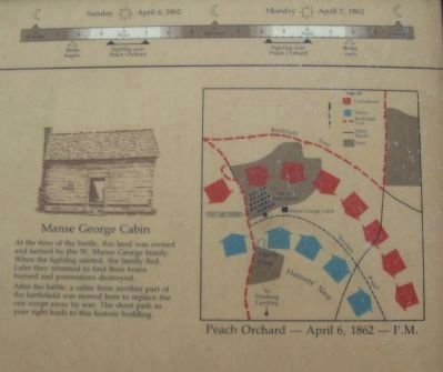 Close Up of Map, Timeline, and Cabin Drawing image. Click for full size.