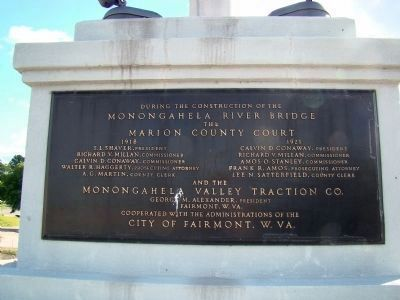 Interurban Company Plaque on Base of Flagpole image. Click for full size.