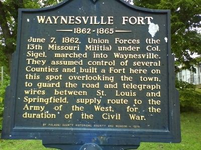 Waynesville Fort Marker image. Click for full size.