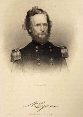 Death of Brigadier General Nathaniel Lyon Marker image. Click for full size.