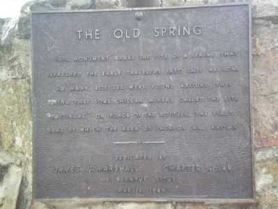 The Old Spring Marker image. Click for full size.