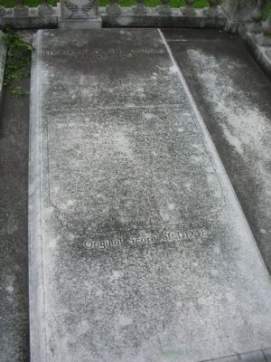 Herman Frank Arnold grave with Original Score of Dixie inscription image. Click for full size.