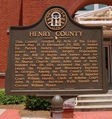 Henry County Marker image. Click for full size.