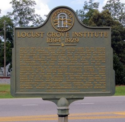 Locust Grove Institute Marker image. Click for full size.