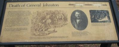 Death of General Johnston Marker Photo, Click for full size