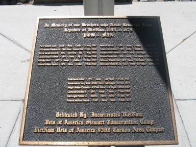 Nevada Viet Nam Memorial Marker Photo, Click for full size