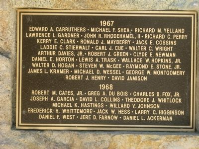 Plaque Located Left Center Photo, Click for full size