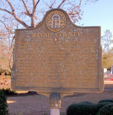 Wayne County Marker image. Click for full size.