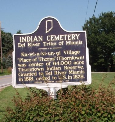 Indian Cemetery Marker Photo, Click for full size