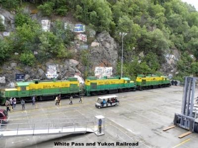 Skagway and White Pass RR locomotives image. Click for full size.