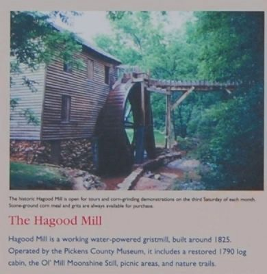 The Pickens County Museum Marker -<br>The Hagood Mill image. Click for full size.