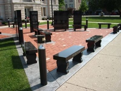 Clinton County War Memorial - - Few Steps Away.... image. Click for full size.