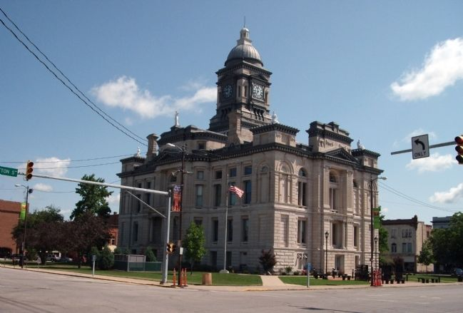 South / West Corner - - Clinton County Courthouse image. Click for full size.