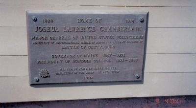 Home of Joshua Lawrence Chamberlain Marker Photo, Click for full size