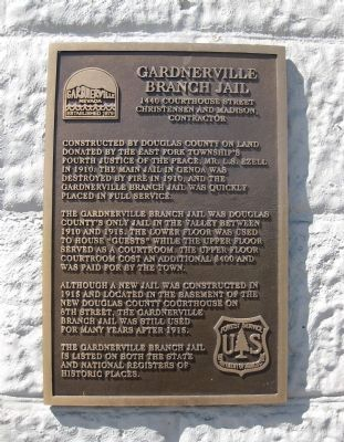 Gardnerville Branch Jail Marker image. Click for full size.