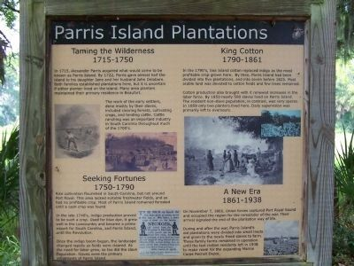 Parris Island Plantations Marker image. Click for full size.