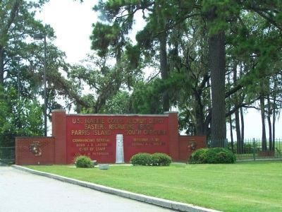 Parris Island Gateway as seen today image. Click for full size.