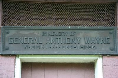 General Anthony Wayne Blockhouse Marker image. Click for full size.