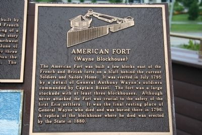 American Fort Marker image. Click for full size.