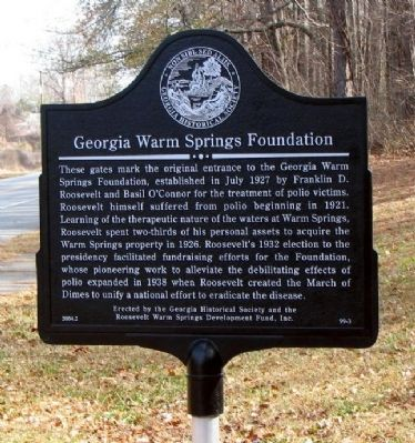 Georgia Warm Springs Foundation Marker image. Click for full size.