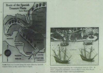 Route of the Spanish Treasure Fleets </b>(Far left side of marker) image. Click for full size.