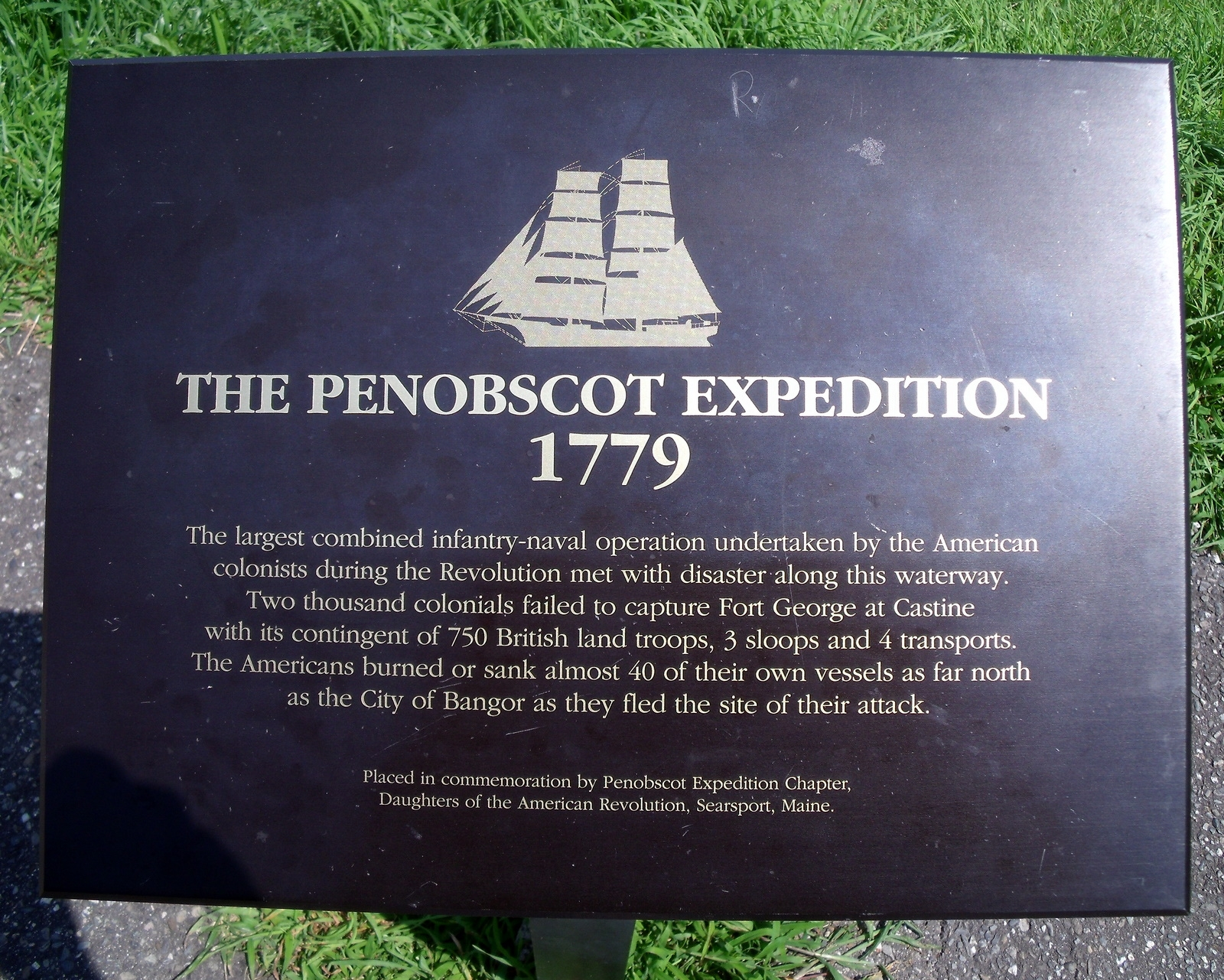 The Penobscot Expedition 1779 Marker