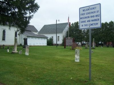 Cemetery where Nelson Dewey, First Governor of Wisconsin, is buried image. Click for full size.