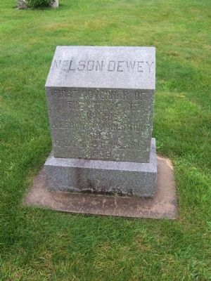 Gravestone of Nelson Dewey, First Governor of Wisconsin image. Click for full size.