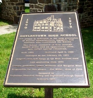 Doylestown High School Marker image. Click for full size.