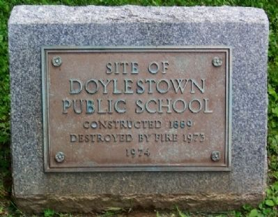 Site of Doylestown Public School Marker image. Click for full size.