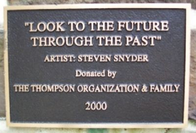"""Look to the Future Through the Past"" Marker image. Click for full size."