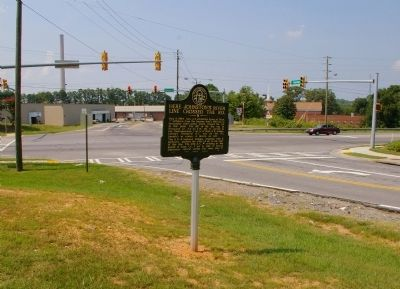 Here Johnston�s River Line Crossed the Road Marker image. Click for full size.